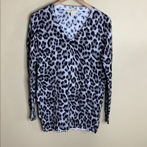 MICHAEL Michael Kors Sweaters - Michael Michael kors animal print v neck sweater